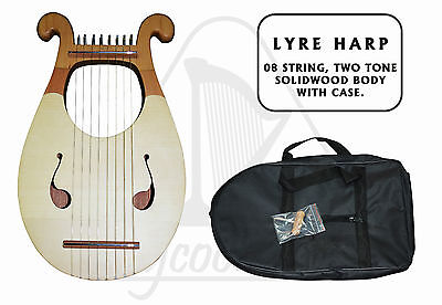 Lyra Harp 8 String, Two Tone Solidwood Body **new**