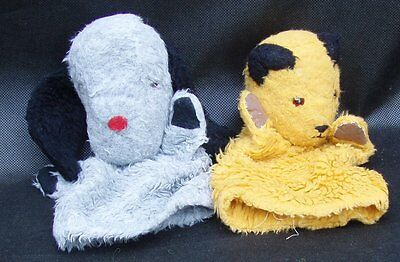 Pair of Genuine Vintage Chad Valley Sooty & Sweep Glove Puppets