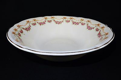 "Vintage Ceramic 8.5"" Serving Bowl ~ Edwin Knowles Pottery, Roses, Ribbons & Bows"