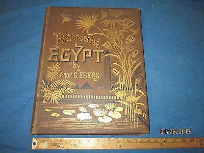 Picturesque Egypt Book By G. Ebers Volume I - Dated 1878