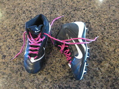 NIKE Alpha Shark football Cleats Boy's girls Youth Shoes 1Y 442420-011 baseball