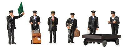 Scenecraft 379-317 Station Staff 1940s- 1950s N Scale