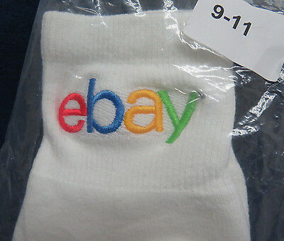 New in Bag Embroidered EBAY LOGO Ladies Ankle Socks Size 9-11 Souvenir Excellent