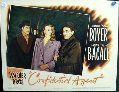 Lauren Bacall Is The Confidential Agent Original Warner Brothers Lobby Card