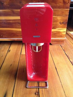 SodaStream Source Red Glossy Carbonation Soda Maker Designed by Yves Behar