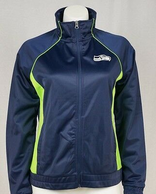 GIII Women's NFL Seattle Seahawks Bling Zip Up Track Jacket
