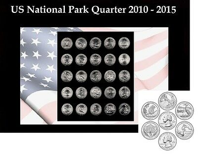 30 US National Park Quarter 2010 - 2015 D Mint