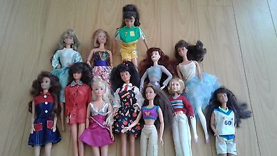 12 Barbie Dolls Lot, used out of box Lot #3, all originals.
