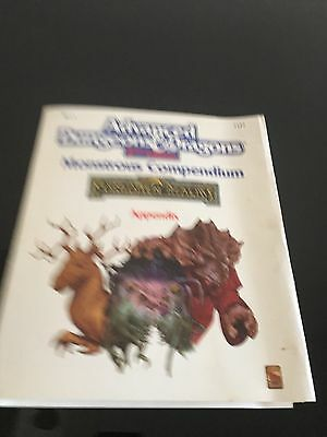 Advanced Dungeons and Dragons Monster Compendium Circa 1980s