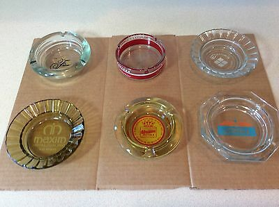 LOT OF 6 VINTAGE HOTEL/CASINO  ASHTRAYS Rivera, Maxim,Dunes, Plus