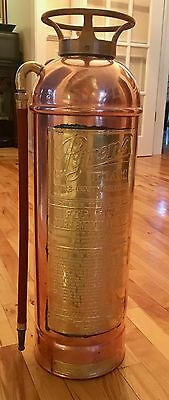 Brass & Copper Pyrene Fire Extinguisher Stunning Showpiece