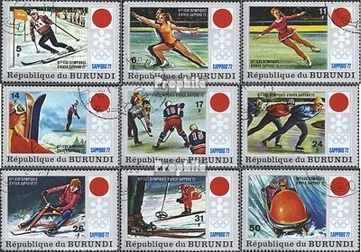 Burundi 844A-852A (complete issue) used 1972 olympic. Winter Ga