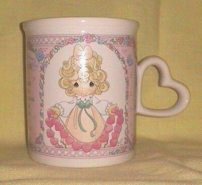 "Precious Moments ""You Have Touched So Many Hearts"" Heart Handle Coffee Mug / Cup"