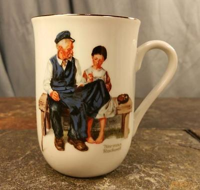 "Norman Rockwell Artist ""The Lighthouse Keepers Daughter"" Porcelain Coffee Cup"