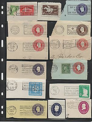 United States cut square lot fancy slogan cancels stamp collection group U S