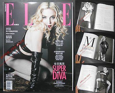 NEW MADONNA Rebel Heart Tour Taiwan ELLE Magazine 2016/02 Full Cover (300P)