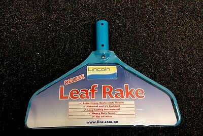 Deluxe Leaf Rake Heavy Duty -Pool/ Spa Rake/Scoop/Shovel Heavy Duty Frame