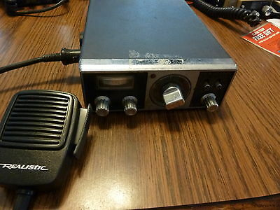 Vintage 1970's Realistic TRC-52 CB Mobile In Vehicle Radio Microphone works good