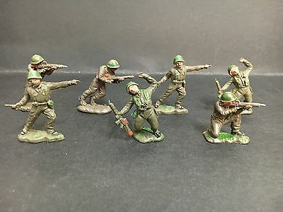 """BENBROS"" TOY SOLDIERS LOT OF 7 FROM 1960's, MADE IN ENGLAND"