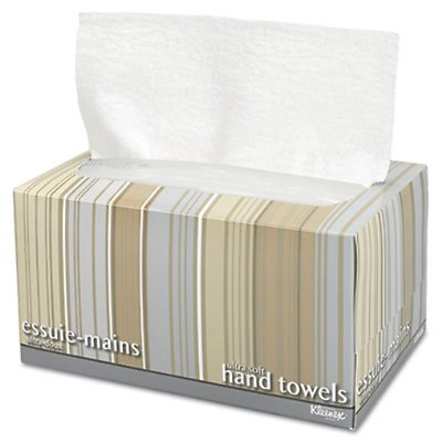 Ultra Soft Hand Towels, POP-UP Box, White, 70/Box, Sold as 70 Each