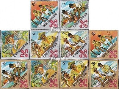 Burundi 349A-358A fine used / cancelled 1967 Scouting