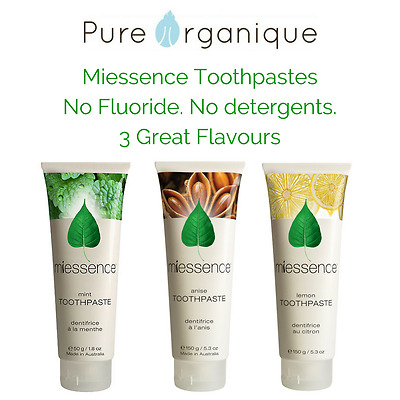 Miessence Toothpaste with cert. organic ingredients (150g) Fluoride Free
