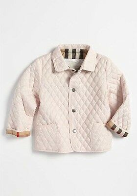 Burberry Baby Girl Ice Pink Quilted Jacket/ Coat 2 Years Bnwt