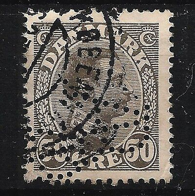 Denmark Lot of Old stamp. Perfin. ( 2 scans)