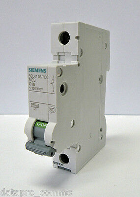 Siemens - Circuit Breaker 230/400V, 6kA, 1 Pole, C, 20A (Box of 12)