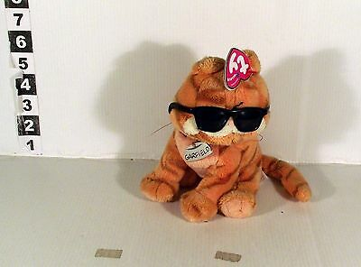 """6"""" Garfield The Movie Tv Series Comic Cat Soft Toy Ty Beanies In Sunglasses"""