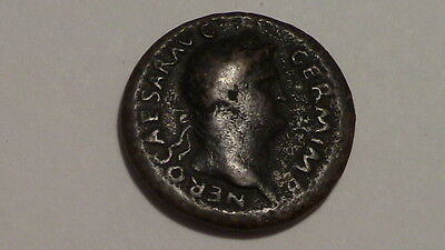 Roman Imperial NERO AE AS Rev. SC Victory Advancing.Solid and bold piece.Ancient