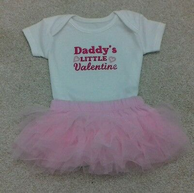 Personalised Baby Clothes/Gifts/ Valentines outfit/Daddy's little Valentine ❤