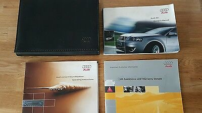 AUDI A3  Owners Manual Handbook & Document Wallet