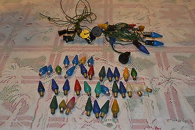 LOT Vintage Cone C6 Light Bulbs ~ Lamps with cords ~ GE ~ 1 Mazda #2