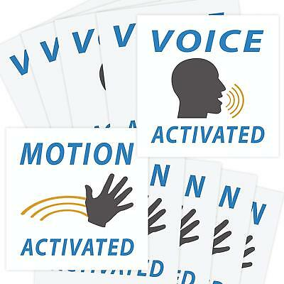 Voice & Motion Activated Prank Stickers, 50 Pack, Funny Gag Gift, Practical Joke