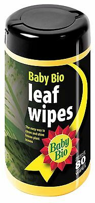 Baby Bio Leaf Wipes Plant Easy Clean Shine House Plants Mild Oils Tub Dispenser