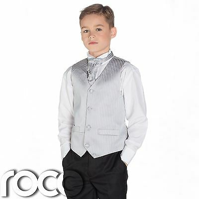 Boys Silver & Black Suit, Page Boy Suits, Boys Wedding Suits, Boys Suits, Stripe