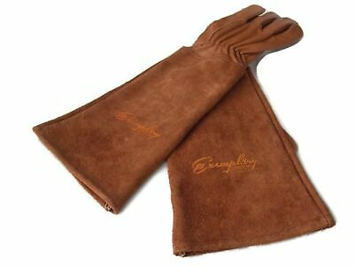 Rose Pruning Gloves for Men and Women. Thorn Proof Goatskin Leather Gardening...