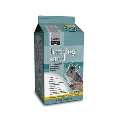 Supreme Science Bathing Sand 1.5L Natural Chinchilla Sand Degus Hamsters Gerbils