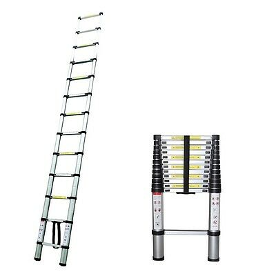 Homegear 12.5ft Aluminum Telescopic Extendable Ladder