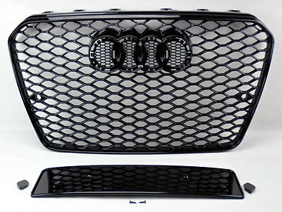 2013+ Audi A5/S5 B8.5 RS5 Style Euro Honeycomb Hex Mesh Black Grill