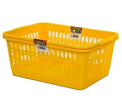 Wham Deep Yellow Set of 2 Large Plastic Handy Basket