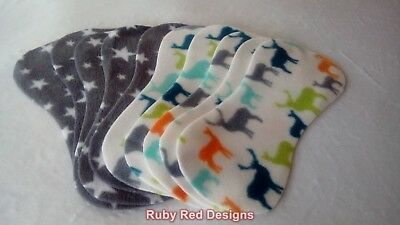 NEW Twin Pack Fleece Nappy Liners 10 pk