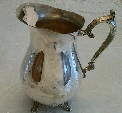 Wm Rogers Silver Plated Ice Water Pitcher Vintage