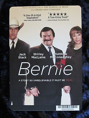 BERNIE movie backer card (this is not a movie) JACK BLACK, SHIRLEY MacLAINE