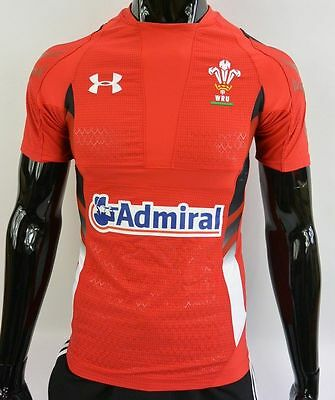 WALES (CYMRU) 2014-15 Home CALON UNDER ARMOUR RUGBY WRU Player Issue SIZE XS