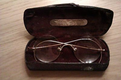 antique spectacles rimless maybe gold very rare