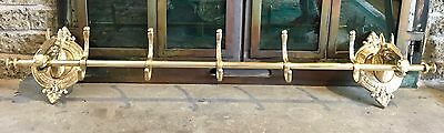 2 Brass Horses Wall Mounted Coat And Hat Hanger 3.4 Feet Wide Stunning Showpiece