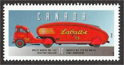 Labatt Beer Delivery Truck from 1947 Canada Stamp #1605m MNH