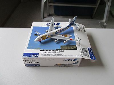 Herpa Wings / Hogan NH50008  All Nippon Airways  ANA  747-400  Pokemon Livery
